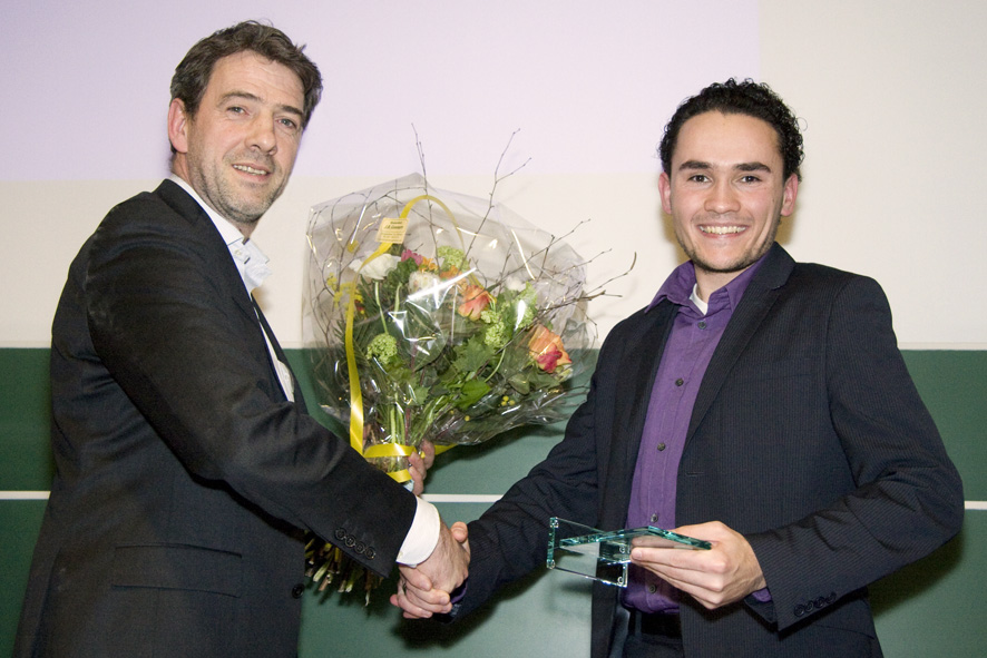 I receive the award from Paul Dirven, CEO of Aia Software